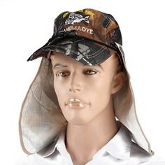 New Brand Unisex Bucket Hat Fishing Boating Hiking Boonie Hat Outdoor Sun Cap+Face Shield