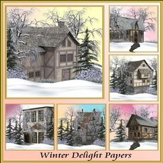 Winter Delight Backgrounds by Christine Hart Winter Delight Backgrounds beautiful winter themed backgrounds for all your design needs
