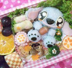 Stitch Bento キャラ弁 スティッチ from http://kitchennote.jp/naconacotch/KtnoteView/?material_no=12