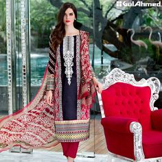 Gul Ahmed Festive Eid 2016 Embroidered Chiffon Collection