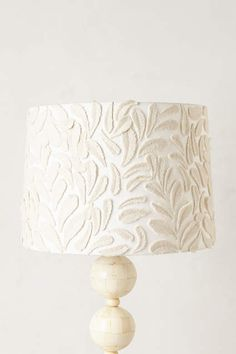 Fallen Fronds Lampshade - anthropologie.com Cotton, felt, metal