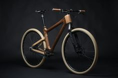 One Bicycle by Grainworks. The stunning AnalogOne.One is a beautifully carved wooden bicycle custom built to fit your size, designed by Mike Pecsok of Grainworks. Wooden Bicycle, Wood Bike, New Bicycle, Bicycle Parts, Bicycle Shop, Velo Design, Bicycle Design, Grid Design, Motocross