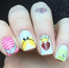 fun nail art videos Salonsfun nail art designs Step By Step Funky Nail Art, Crazy Nail Art, Funky Nails, Nail Art Diy, Cute Nails, Pretty Nails, Disney Nail Designs, Halloween Nail Designs, Halloween Nails