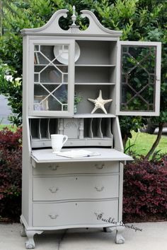 """Freckles Boutique- used Annie Sloan's """"French Linen"""""""