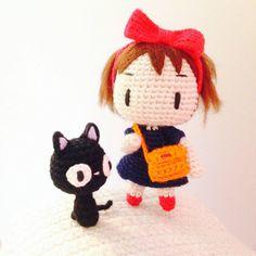 Kiki & Jiji amigurumi doll and kitten. (Inspiration).