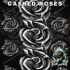 CASHED ROSES - NEW Hydrographic water Transfer Printing Film - Custom Hydrographic Dipping Film 2014 - Hydro Army http://www.hydroarmy.com