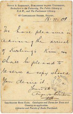 1901 Sydney Book Club - Kiplings Kim, via Flickr.
