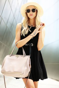 Little black dress and a big Valentino bag #bags #valentino #peaceloveshea #lbd #blogger #fashionblogger