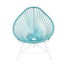 Enjoy the Mayan tradition of woven hammocks but with a modern twist. The elegant design is ergonomic and features a sturdy but flexible vinyl cord to maximize comfort. Chair is outdoor-friendly for ult...  Find the Cancun Chair with White Base, as seen in the Boh-Outside Collection at http://dotandbo.com/collections/outdoor-living-sale-boh-outside?utm_source=pinterest&utm_medium=organic&db_sku=104884