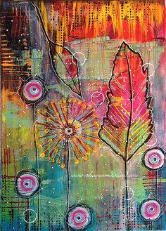 Original Mixed Media Painting Feather Canvas by NikaInWonderland Mixed Media Painting, Mixed Media Canvas, Mixed Media Collage, Art Journal Pages, Art Journals, Minimalist Bullet Journal, Design Tattoo, Art Journal Inspiration, Art Design