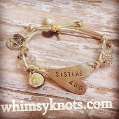 Bride and bridesmaid Set of Three Friend/Sister BRACELETS-- Perfect  Personalized Gift. Personalized, Hand-Stamped Jewelry on Etsy, $52.00