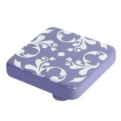 pomo tirador lila con dibujos blancos modelo 699LI para mueble de salon