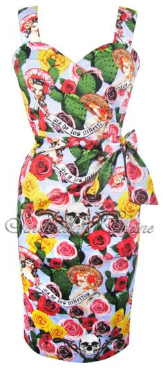 Hell Bunny~DeSPeRaDo~Sexy Mexican Party Holiday Pencil Dress XS-XL 6-16 | eBay..... cinco de Mayo?