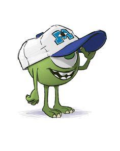 Monsters University Mike Wazowski concept art