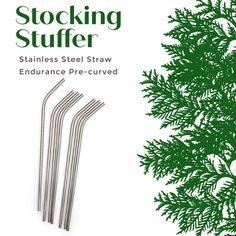 An essential for a zero waste lifestyle and a great stocking stuffer! Get curved or straight styles, sold 4 to a pack! Stainless Steel Straws, Stainless Steel Material, Fun Drinks, Beverages, Mason Jar With Straw, Mason Jar Drinks, Straw Crafts, Paper Straws, Glass Containers