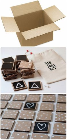 Do it yourself: craft a wooden letterboard in a scandi look - # milk cartons . - Do it yourself: craft a wooden letterboard in a scandi look – # Milchtütenupcycling - Games For Kids, Diy For Kids, Activities For Kids, Kids Crafts, Diy And Crafts, Memory Crafts, Diy Upcycling, Diy Recycle, Ideias Diy