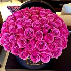 Find images and videos about pink, flowers and rose on We Heart It - the app to get lost in what you love. Unusual Flowers, My Flower, Pretty Flowers, Luxury Flowers, Arte Floral, Flower Boxes, Gift Flowers, Beautiful Roses, Belle Photo