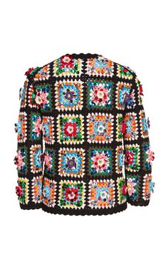 Patchwork jacket with rhinestones, Hand-Woven granny square Crochet cardigan, Cr. : Patchwork jacket with rhinestones, Hand-Woven granny square Crochet cardigan, Crafted High fashion designer. Cardigan Au Crochet, Gilet Crochet, Crochet Coat, Crochet Jacket, Crochet Clothes, Hand Crochet, Knit Jacket, Crochet Granny, High Mode