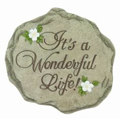 Spoontiques It's a Wonderful Life Stepping Stone by Spoontiques, Inc. $14.99. Stepping Stone/Wall Plaque. Resin & Calcium Carbonate. Indoor/Outdoor. High quality indoor or outdoor hand sculpted and hand painted decorative resin Wall Plaque or Stepping Stones can be hung on your wall or simply add a welcoming touch to your home, yard or office.