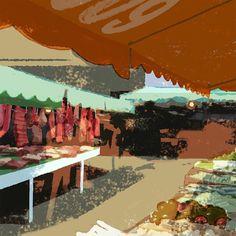 #wip #process #illustration #illustrator #tatsurokiuchi #taiwan #market #art #happy #meat #life #lifestyle #follow #台湾