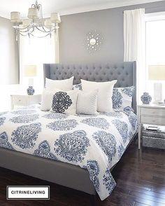 Gray bedroom decor purple and gray master bedroom ideas bedroom ideas gray blue and gray bedroom . Bedding Master Bedroom, Master Bedroom Design, Gray Bedding, Master Bedrooms, Bedroom Designs, Luxury Bedrooms, Bedroom Images, Luxury Bedding, Gray Headboard