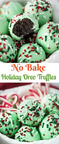 A sweet outer chocolate shell surrounds a decadent, chocolate Oreo filling. No baking necessary and only 5 ingredients needed! | The Cozy Cook | #christmas #oreos #chocolate #truffles #dessert #holidays #sprinkles #oreotruffles