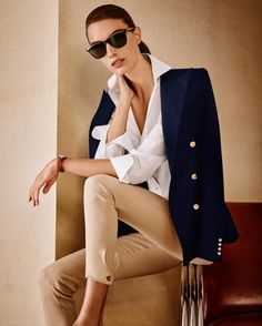 Elements of style: The American-made Camden Stretch Wool Jacket, Adrien Cotton Broadcloth Shirt, Dalston Stretch Wool Pant, and Art Deco RL Sunglasses, as seen in today's @NYTimes