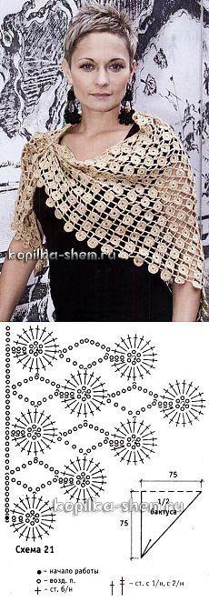 18 Best Ideas for crochet lace scarf pattern table runners Col Crochet, Crochet Lace Scarf, Crochet Shawls And Wraps, Crochet Collar, Crochet Scarves, Crochet Motif, Crochet Clothes, Free Crochet, Crochet Diagram