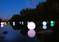 Solar Power Ball Lighting Fixtures   Cool Solar Powered Inventions