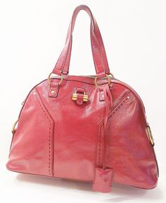 YVES SAINT LAURENT YSL-RED MUSE BAG $795  http://www.boutiqueon57.com/products/yves-saint-laurent-ysl-red-muse-bag