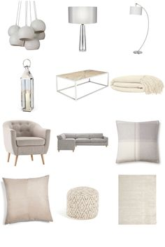 Comfy Living. Beautiful soft, light furnishings. Some welcoming pieces to create a comfortable living space.