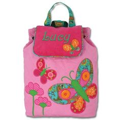 Children's Pink Butterfly Quilted Bag - Available now on Becky & Lolo