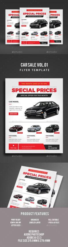Summer Minimal Flyer Verano y Fiestas - car for sale flyer