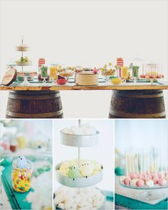 rustic dessert table #desserttable http://www.weddingchicks.com/2013/12/16/wedding-in-northern-spain/