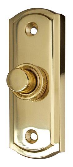 Jedo Brass Door Bell 81x31mm Brass front door bell measuring 81x31mm. Screws are included.  sc 1 st  Pinterest & Replacing Our Door Bell Button +75 Statement Door Bell Buttons ...