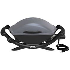 Weber 55020001 Q 2400 Electric Grill in Great Price at Grill Parts Hub electric heating element to heat 280 square-inch total cooking area Porcelain-enameled cast-iron cooking grates and cast aluminum lid and body Dimensions (Inches) Lid Open : Best Outdoor Electric Grill, Electric Bbq, Electric Grills, Best Portable Grill, Grill Stand, Best Gas Grills, Infrared Grills, Gas Grill Covers, Grill Parts