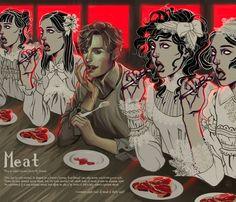 Meat by herringbonnes on deviantART