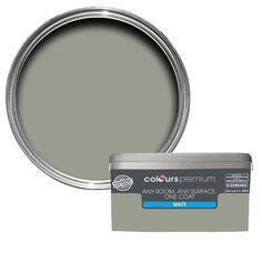 Colours Premium Any Room One Coat Fossilised Matt Emulsion Paint 2.5L | Departments | DIY at B&Q