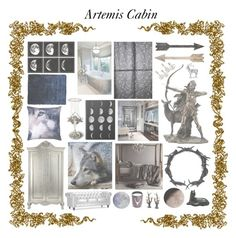 """""""Artemis Cabin"""" by fandoms-have-eaten-my-soul ❤ liked on Polyvore featuring interior, interiors, interior design, home, home decor, interior decorating, Zuo, Uttermost, Control Brand and nanimarquina"""