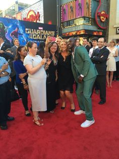 AGENTS OF S.H.I.E.L.D.'s BJ Britt taking selfies at the Guardians of the Galaxy premiere!