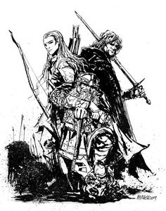 aragorn coloring pages | gimli aragorn and legolas by anchan on deviantART | J.R.R ...