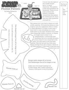 Nyanko Burger Plushie - FREE Pattern