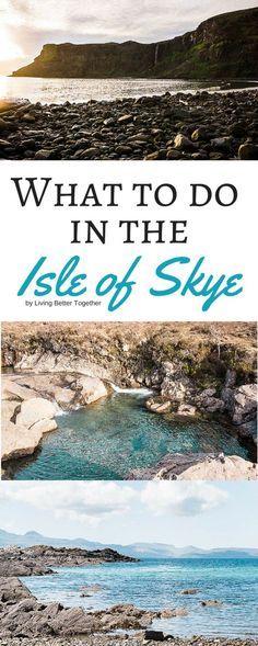 ¿Planeando un viaje a Escocia? Revisa algunos de los aumentos grandes para hacer en la isla de Skye donde alojarse!