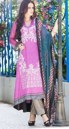 Purple Lawn Suit Libas Eid Lawn Collection  Latest Eid Lawn Collections…