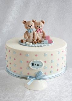 Gender Reveal Cake Ideas To Amaze Everyone - Baby Shower Cake Ideas - Kuchen Baby Cakes, Baby Reveal Cakes, Baby Gender Reveal Party, Girl Cakes, Cupcake Cakes, Sweets Cake, Gender Reveal Cakes, Baby Shower Cakes For Boys, Baby Shower Cupcakes