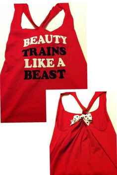 Beauty Trains Like A Beast Workout Racerback