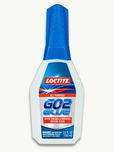 GO2 Glue, by Loctite  Choosing the right adhesive for home repairs just got easier, thanks to this new nonrigid hybrid polyurethane that doesn't bubble, run, or drip. Works on wood, metal, and some plastics. It dries clear and cleans up with alcohol.     About 6 dollars; loctiteproducts.com