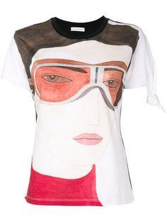 J.W.ANDERSON Kelly Beeman print knot T-shirt. #j.w.anderson #cloth #t-shirt