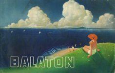 Balaton reklámfüzet, via vatera What Is Happiness, Railway Posters, Retro Ads, Hungary, Sailing, Illustration Art, Graphic Design, Prints, Movie Posters