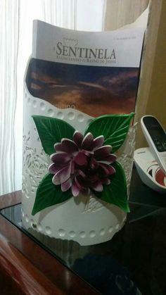 Pvc flower magazine rack